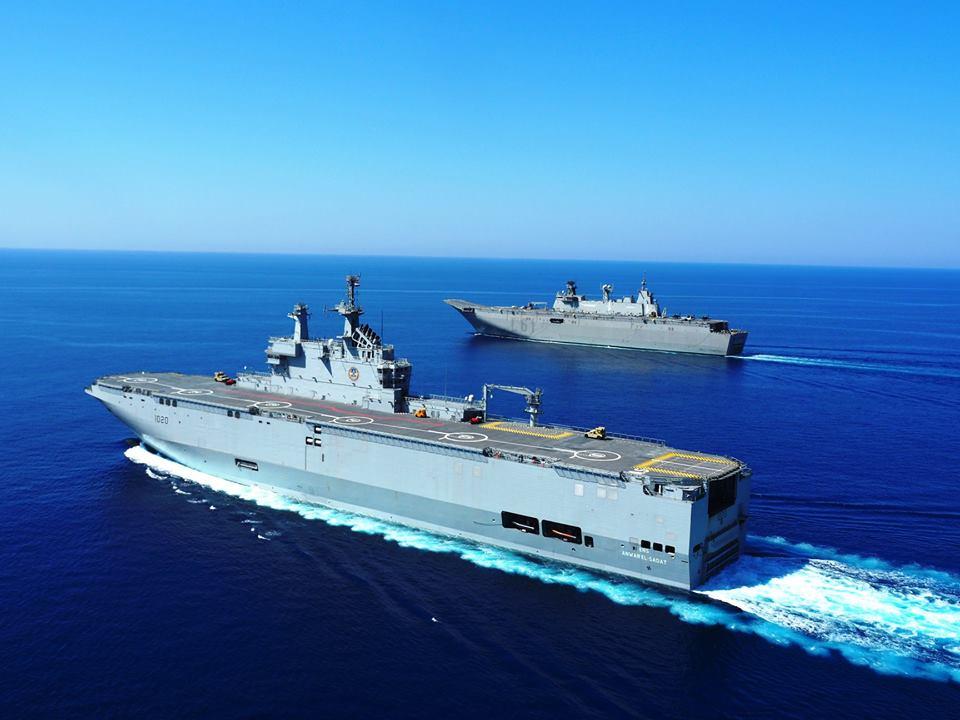 البحرية المصرية والإسبانية تنفذان تدريبا بحريا مشتركا بنطاق البحرين المتوسط والأحمر