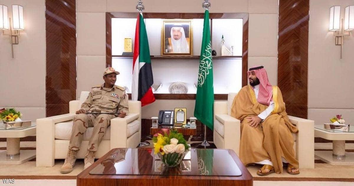 ولي العهد السعودي يلتقي نائب رئيس المجلس الانتقالي السوداني في جدة