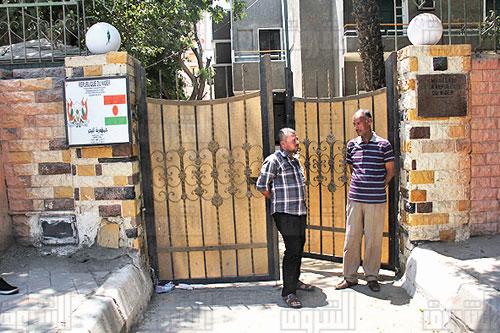 موقع سفارة النيجر بعد الهجوم- تصوير هبة خليفة