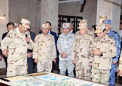 السيسي يفتتح مقر قيادة قوات شرق القناة