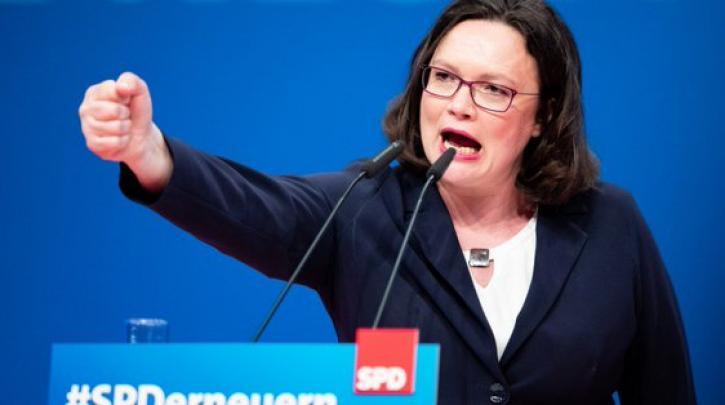 أندريا ناليس - زعيمة الحزب الاشتراكي الديمقراطي في ألمانيا