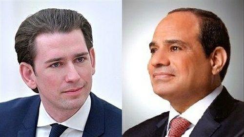 «السيسي» ومستشار النمسا يؤكدان حرصهما على تعزيز العلاقات الثنائية