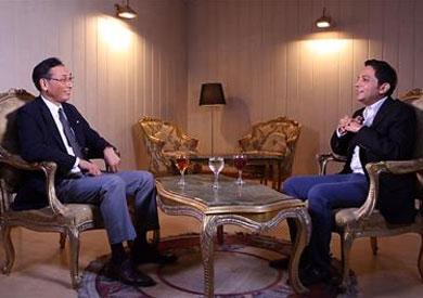 سوجيتا هيروتشي مع الإعلامي أحمد فايق