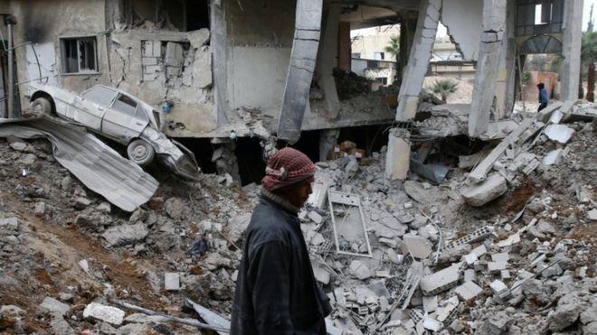 تتعرض الغوطة الشرقية لوابل قصف يومي<br/>