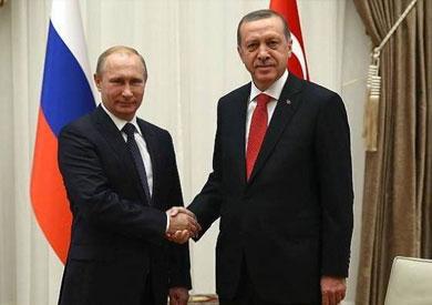 الرئيس الروسي فلاديمير بوتين ونظيره التركي رجب طيب أردوغان