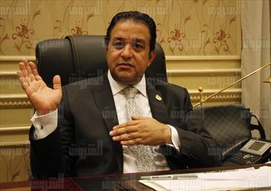 علاء عابد رئيس لجنة حقوق الإنسان فى البرلمان - تصوير: لبنى طارق