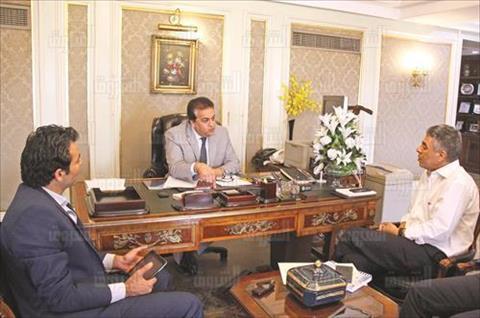 خالد عبد الغفار وزير التعليم العالى -تصوير جيهان نصر