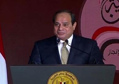 الرئيس السيسي في مؤتمر «حكاية وطن»