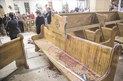 انفجار كنيسة مارى جرجس فى طنطا تصوير ابراهيم عزت