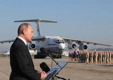 بوتين في قاعدة حميميم الروسية في سوريا