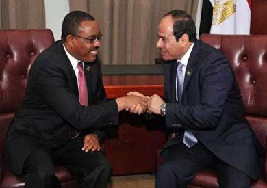 الرئيس السيسي ورئيس وزراء إثيوبيا ميريام ديسالين