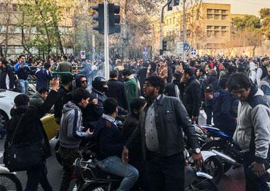 جانب من الاحتجاجات في إيران