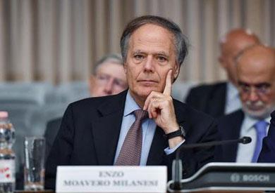 وزير الخارجية الإيطالي إنزو مورافو ميلانزي