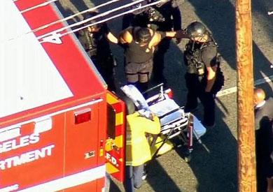الشرطة الأمريكية تعتقل محتجز الرهائن فى لوس أنجلوس