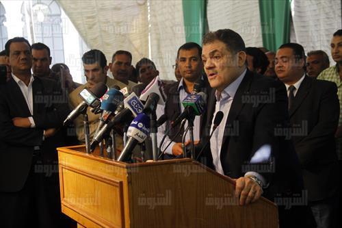 السيد البدوي رئيس حزب الوفد - تصوير: إبراهيم عزت