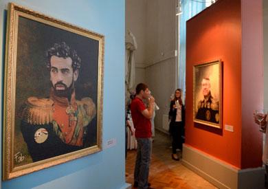 لوحة فنية لمحمد صلاح في متحف روسي