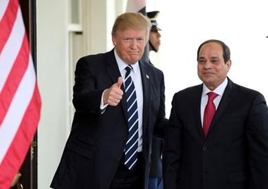 الرئيس السيسي ونظيره الأمريكي دونالد ترامب