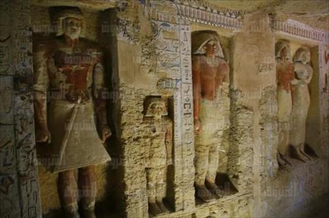 الكشف الأثري الجديد بمنطقة سقارة تصوير: أحمد عبدالفتاح