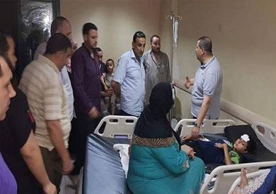 أحد المصابين داخل مستشفى المحلة العام