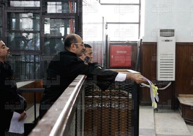 خالد علي أثناء جلسة محاكمة علاء عبدالفتاح في أحداث مجلس الشورى - تصوير: أحمد عبدالفتاح