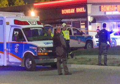 الشرطة الكندية في موقع الحادث