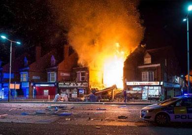 انفجار ضخم في مدينة ليستر البريطانية