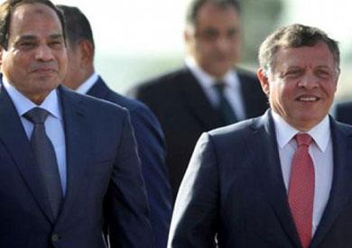 الرئيس السيسي يستعرض مع نظيره الأردني الأوضاع الإقليمية والدولية