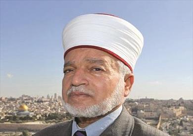 المفتى للعام للقدس والديار الفلسطينية الشيخ محمد أحمد حسين وخطيب المسجد الأقصى المبارك