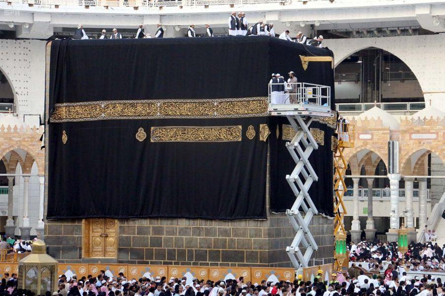 «بيان عملى» لصناعة كسوة الكعبة فى جناح «شئون المسجد الحرام»