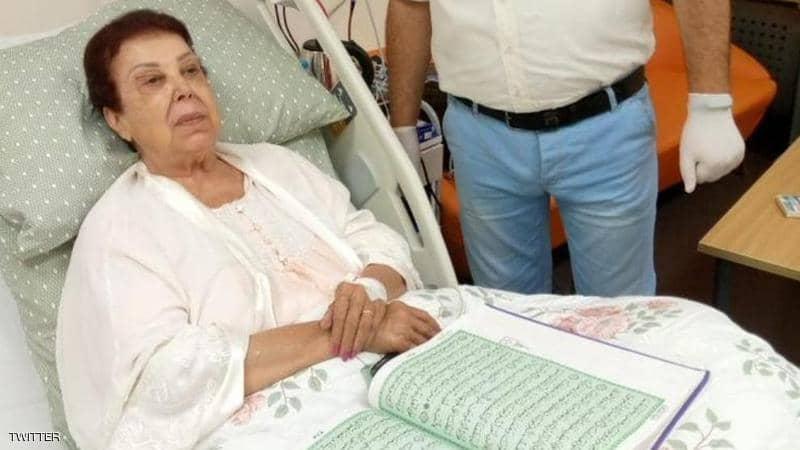 الفنانة رجاء الجداوي تتلقى العلاج في مستشفى العزل بعد إصابتها بكورونا