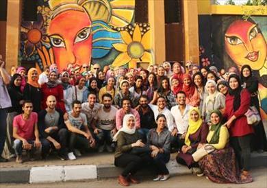 أكبر جدارية في القاهرة<br/>