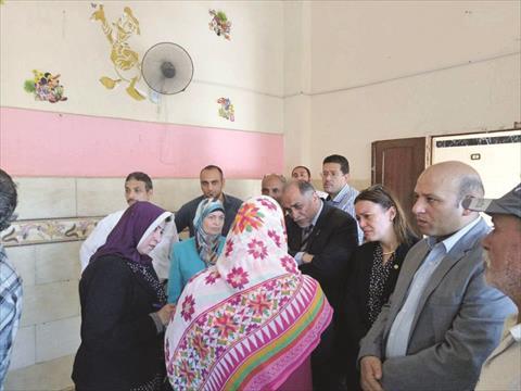 لجنة تضامن النواب خلال الزيارة