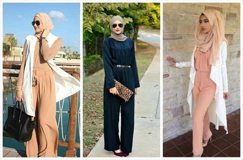 بالصور.. كيف ترتدين «السالوبيت» مع حجابك لإطلالة مختلفة