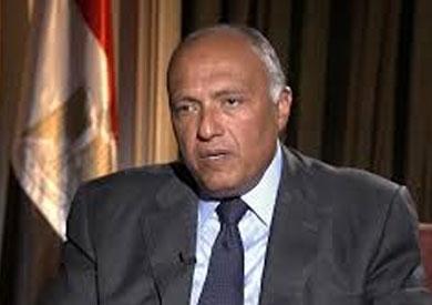 وزير الخارجية يعود إلى القاهرة قادما من غانا