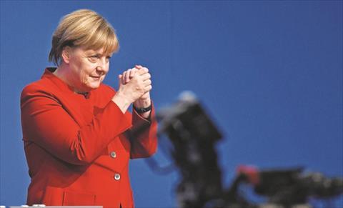 انتخاب انجيلا ميركل زعيمة الحزب المسيحى الديموقراطى 2016 الوكالة الفرنسية