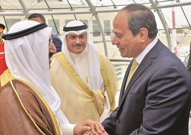 توسيع آفاق التعاون يتصدر القمة المصرية الكويتية فى قصر بيان