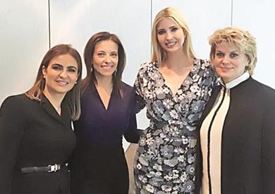 وزيرة الاستثمار مع ميركل وإيفانكا ترامب فى «قمة المرأة»