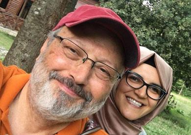جمال خاشقجي والباحثة التركية خديجة جنكيز