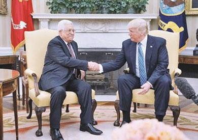الرئيس الفلسطينى يشيد بتحمس ترامب لعملية السلام