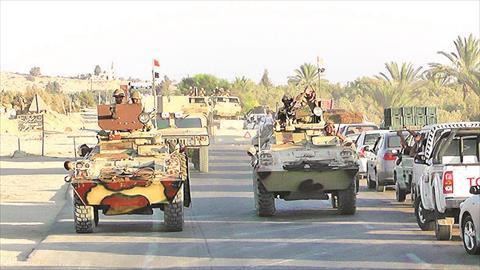 جانب من انتشار قوات الجيش فى سيناء<br/>
