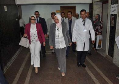 وزيرة الصحة تتفقد مستشفى مدينة نصر للتأمين الصحى