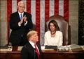 ترامب ونائبه مايك بنس ورئيسة مجلس النواب الأمريكي نانسي بيلوسي
