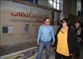 ايناس عبد الدايم تتفقد اجنحة معرض الكتاب