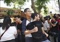 فرحة طلاب الثانوية بعد الانتهاء من أداء آخر امتحان - تصوير: لبنى طارق