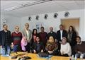 أعضاء الدورة التدريبية التي نظمها معهد جوته في «دويتش فيله» برلين