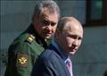 الرئيس الروسي فلاديمير بوتين ووزير الدفاع سيرجي شويجو