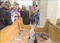 انفجار كنيسة مارى جرجس بطنطا تصوير اسلام صفوت