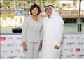 شريل بون رئيس اكاديمية الاوسكار مع عبدالحميد جمعة رئيس مهررجان دبى