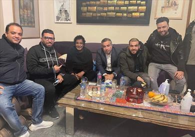 منير والشاعر أحمد حسن راؤول