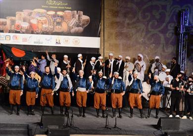 ختام المهرجان الدولي للطبول على مسرح بئر يوسف بالقلعة